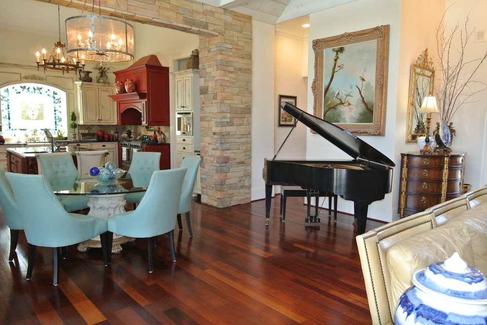 Piano, Breakfast Room, View into Kitchen