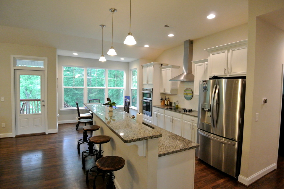Kitchen - Island, Bar Stools, Stainless Steel Appliances
