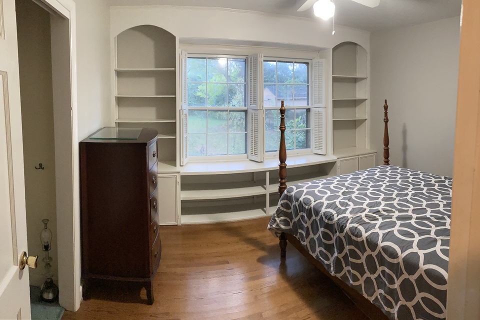 Bedroom with Built Ins