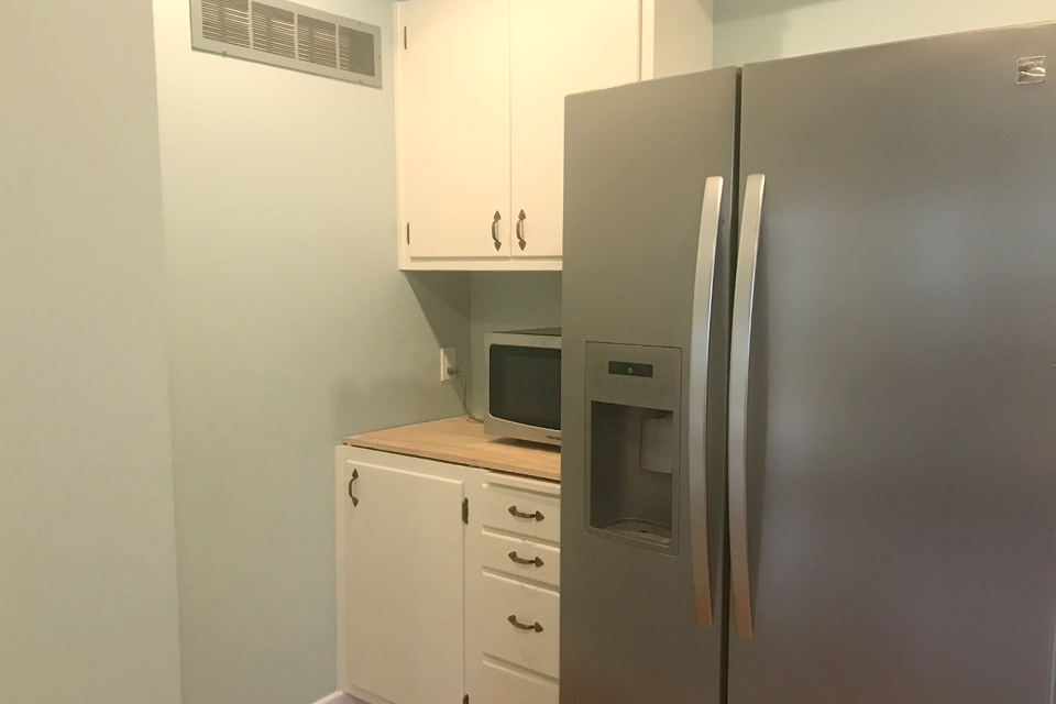 Kitchen - Refrigerator, Microwave, Lots of cabinet space