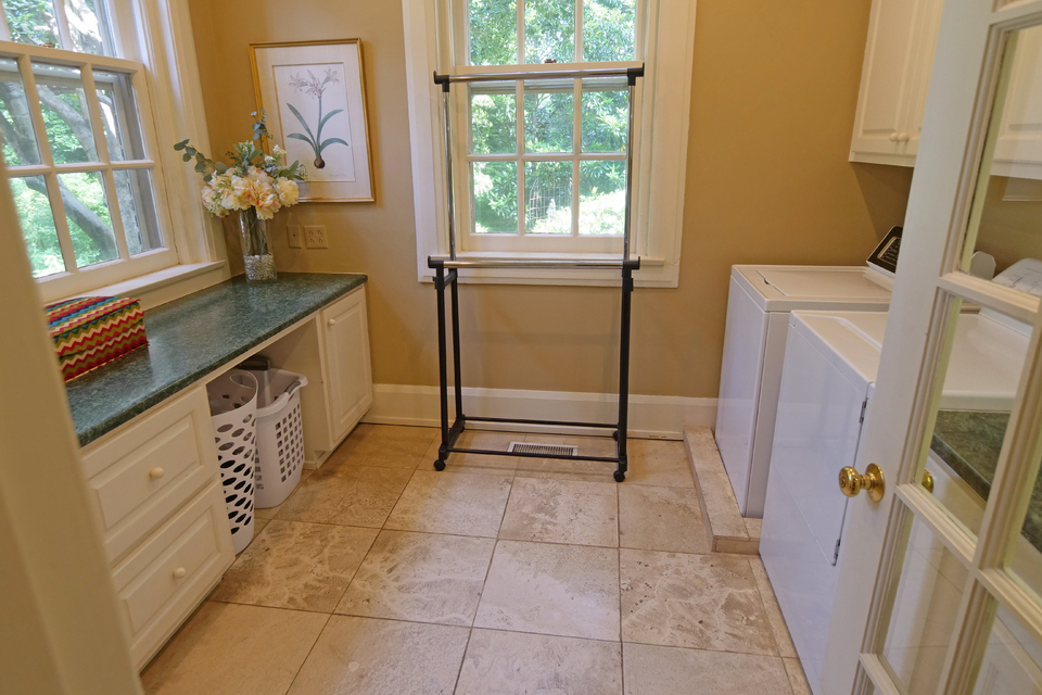 Laundry Room - Walk-In with Sink, Folding cabinets for storage